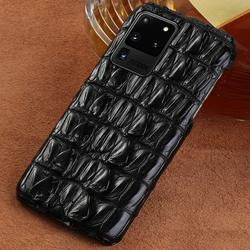 100% Luxury Genuine Crocodile Leather Phone Case for Samsung Galaxy S20 Plus S20 Ultra Note 10 S9 S8 S10 Plus A50 A51 A71 Cover