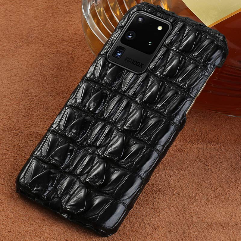 100% Luxury Genuine Crocodile Leather Smartphone Phone Case For Samsung Galaxy S20 Plus S20 Ultra Note 10 S10 Plus A50 A51 Cover