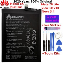 Hua Wei Original Phone Battery HB386589ECW 3650mAh For Huawei P10 Plus Honor 8X View 10 V10 Mate 20 Lite Nova 3 4 Batteries Tool hua wei hb386589cw original replacement phone battery for huawei p10 plus rechargeable li ion battery 3650mah free tools