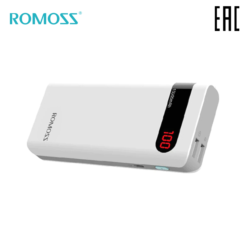 External Battery Romoss Sense 4P 10000 mAh with indication of charge bank with indicator [delivery from Russia]