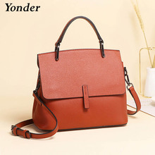 luxury 100% real cow leather shoulder bag women's handbag genuine leather
