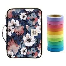 10 Pcs Rainbow Sticky Paper Masking Adhesive Tape & 1 Pcs A4 File Bag