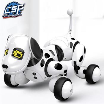 2020 nowy pilot inteligentny Robot pies programowalny 2 4G bezprzewodowe zabawki dla dzieci inteligentny rozmowa Robot pies elektroniczny zwierzak prezent dla dzieci tanie i dobre opinie CEVENNESFE CN (pochodzenie) 3 lat 9007A AAA*3 Unisex Z tworzywa sztucznego Zasilanie bateryjne Pilot zdalnego sterowania
