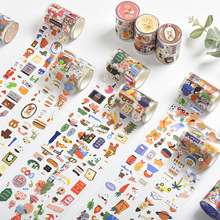 Sticker Stationery Masking Washi-Tape Decorative Animals Cute Label Travel Global