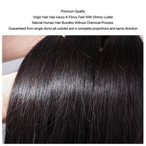 """Image 5 - Pelo lacio MOCHA de 8 """"  26"""" 10A, cabello virgen brasileño, Color Natural, 100%, extensión de cabello humano sin procesar, envío gratis"""