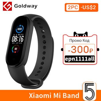 Xiaomi-Inteligentna bransoletka Mi Band 5 wodoodporne urządzenie ekran AMOLED tracker fitness Bluetooth sport tanie i dobre opinie Wszystko kompatybilny SİLİCA Passometer Fitness tracker Uśpienia tracker Wiadomość przypomnienie Przypomnienie połączeń