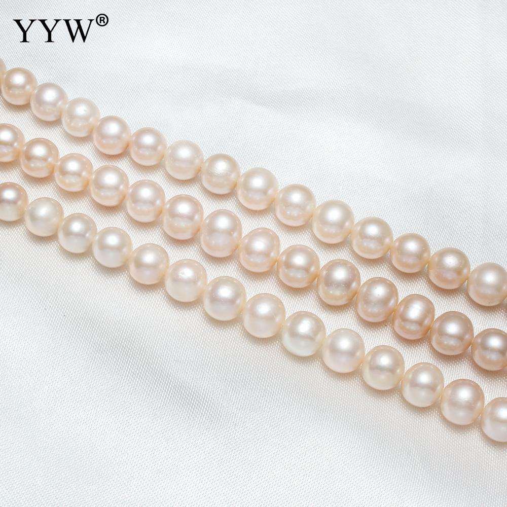 White Mixed Color 8-10mm Natural Cultured Baroque Freshwater Pearl Beads For Women Lovely Jewelry Jewellery Jewelers Jewellry