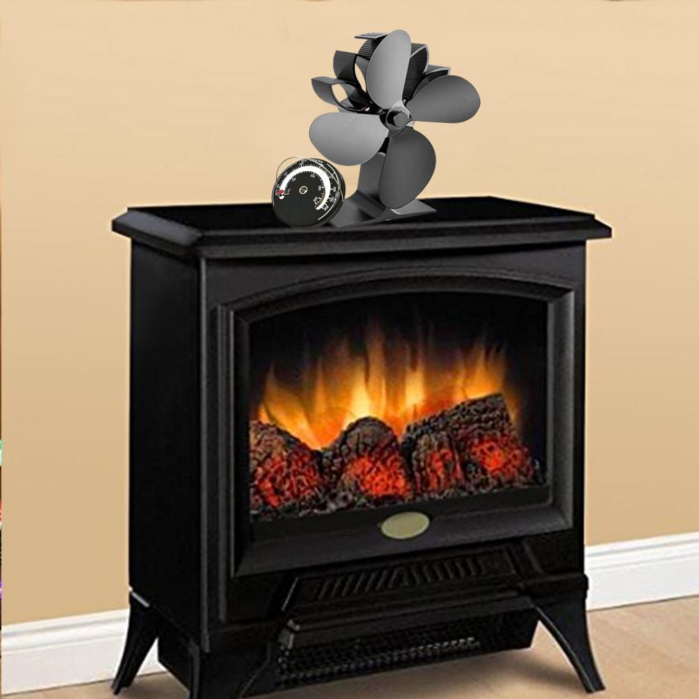 Heat Powered Stove Fan Fireplace Fan Warm Air For Wood Log Burner Home Efficient Heat Distribution