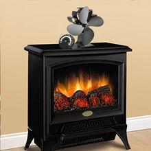 Heat Powered Stove Fan Fireplace Warm Air For Wood Log Burner Home Efficient Distribution