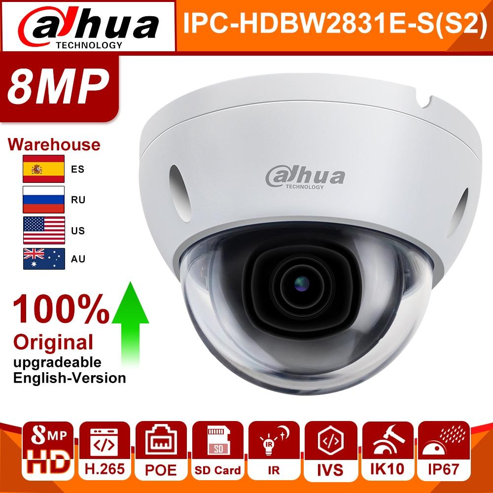 Dahua Orginal Ip Camera IPC-HDBW2831E-S(S2) Ir 30m Intrusion Tripwire Motion Detection SD Card Slot IP67 IK10