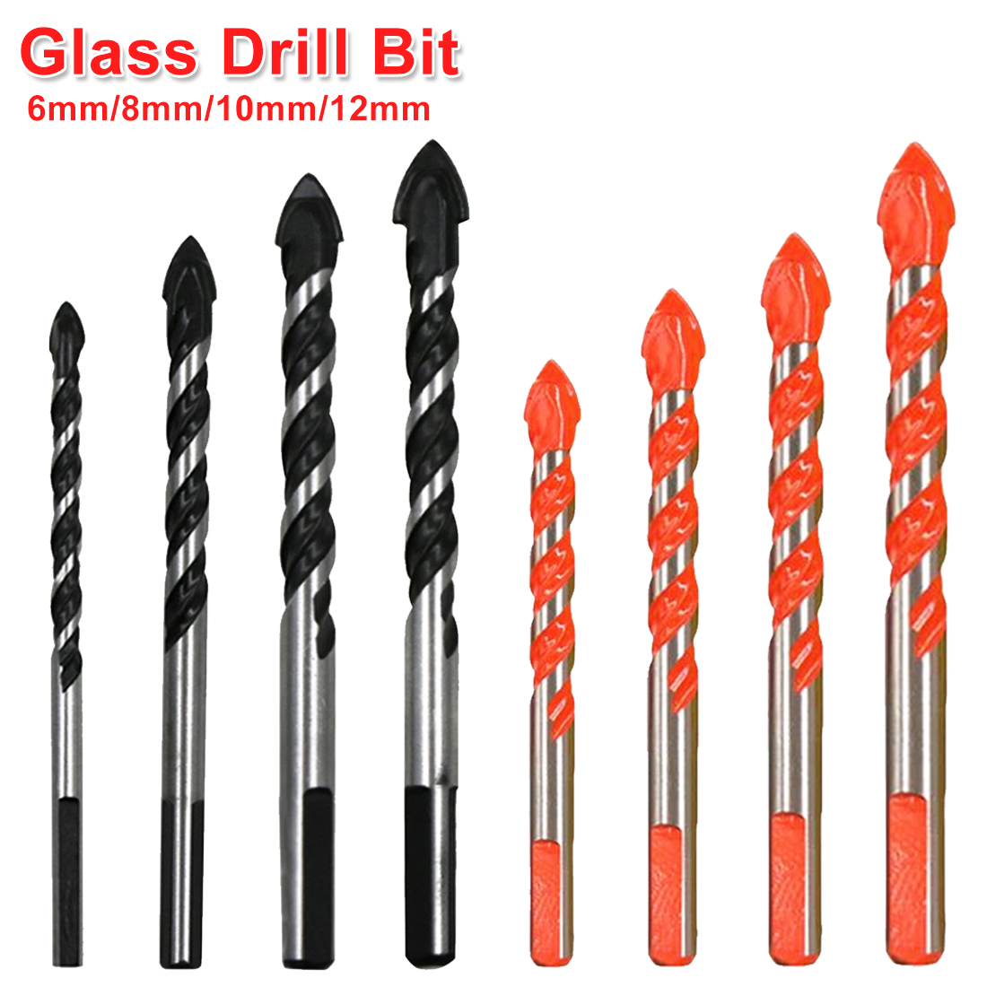 1Pc Triangle Shank Drill Multifunctional Ceramic Glass Hole Wall Cobalt Twist Spiral Bit Tile Concrete Drill Bit Tool