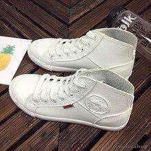 2020ฤดูใบไม้ผลิฤดูใบไม้ร่วงแฟชั่นหนังสีขาวรองเท้าผ้าใบผู้หญิงรองเท้าวิ่งสีดำBreathable High Top A0 81