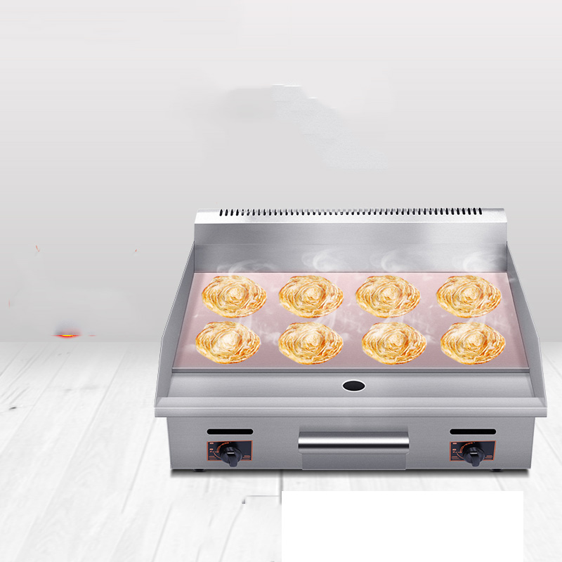 Gas Grid Stall Commercial Gas Hand Cake Machine Hand Sizzling Iron Plate Squid Fried Steak Equipment in Food Processors from Home Appliances
