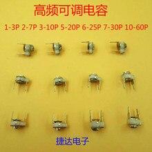 10 adet 1 grup küçük seramik giyotin kapasitör ayarlanabilir kapasitör 1 3P 3 10P 5 20P 6 25P 7 30P 10 60P 70P