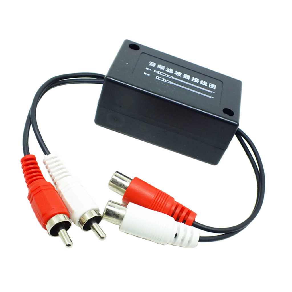 3.5 Mm Mobil AUX Audio Noise Filter DC 12V Power Supply Audio Power Filter untuk Mobil/Auto/ RV/Truk/Trailer/Kemping Sumber Audio & Radio