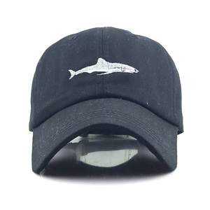 Image 4 - New Washed Cotton Baseball Cap with Whale pattern Peaked Embroidered letter Dad Hat for Men Women Casquette gorra hombre bone