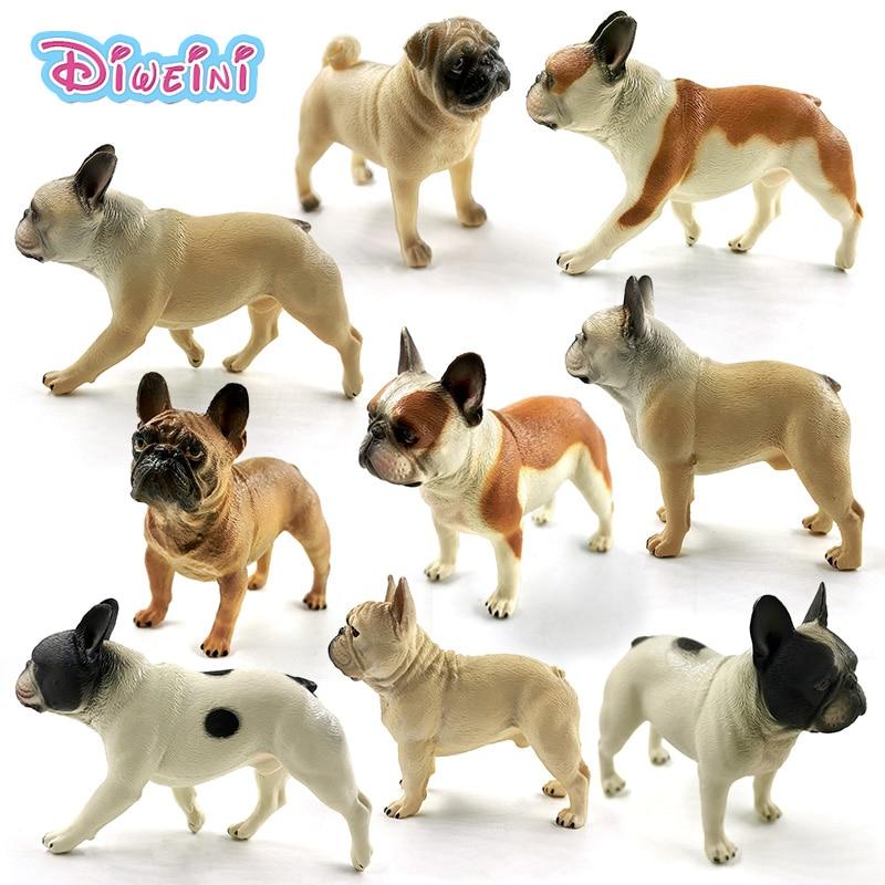 New Bulldog Simulation Farm Dog Animal Model Diy Action Figure Home Decor Boys Girls Gift For Kids Educational Toys For Children
