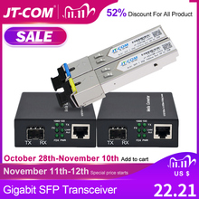 Gigabit Media Converter SFP Transceiver Module 5KM 1000Mbps Fast Ethernet RJ45 to Fiber Optic switch 2 port SC Single Mode