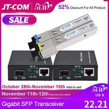 Гигабитный медиаконвертер, модуль приемопередатчика SFP 5 км 1000 Мбит/с, быстрый Ethernet RJ45 в оптоволоконный коммутатор, 2 порта, однорежимный SC