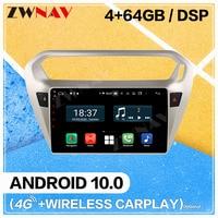Carplay Android 10.0 screen Car Multimedia DVD Player for Citroen Peugeot 301 C Elysee 2014 2017 GPS Navi Radio Stereo Head unit