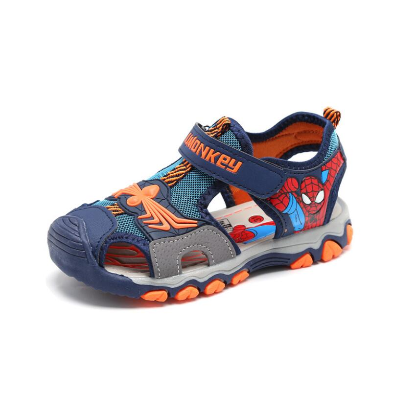 Spring Summer Boys Sandals,Children Beach Shoes,Kids Spiderman Shoes For Boys,Casual Flat Shoes,fashion Cut-outs Children Sandal