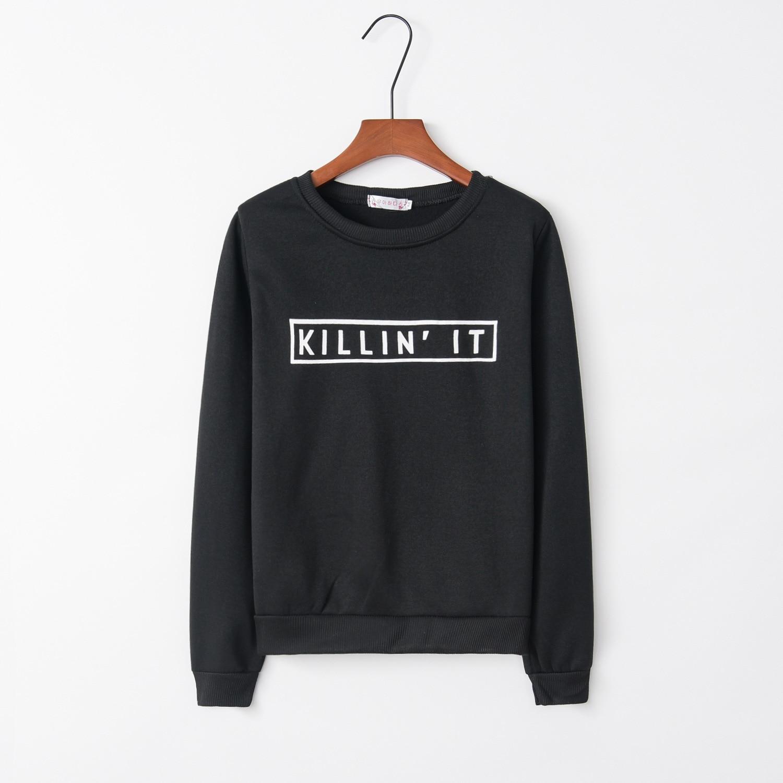 Print Kill It 2020 New Design Hot Sale Hoodies Sweatshirts Women Casual Kawaii Harajuku Sweat Girls European Tops Korean