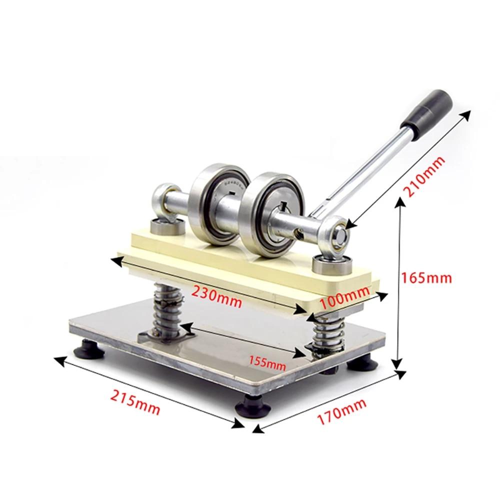 Double Wheel Hand Leather Cutting Machine Photo Paper PVC/EVA Sheet Cutter DIY Leather Die Cutting machine Punching Manual Press-3