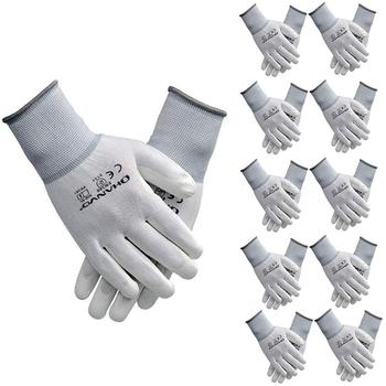 10 par PU nitrylowe rękawice robocze z powłoką ochronną rękawice powlekane palmami mechaniczne rękawice robocze posiadają certyfikat CE EN388 tanie i dobre opinie BRONZE ARMOR CN (pochodzenie) RĘKAWICE ROBOCZE ST4004