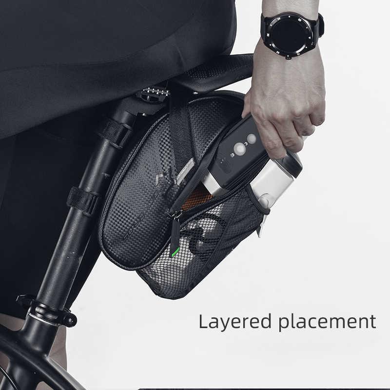 ROCKBROS MTB Bicicleta Da Bicicleta Saddle Bag Com Bolso Garrafa De Água À Prova D' Água Sacos de Assento Traseiro de Bicicleta Traseira Da Bicicleta Saco de Cauda Acessórios Da Bicicleta