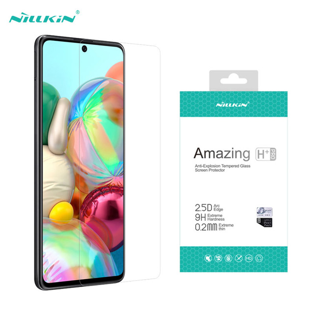 Samsung Galaxy A51 A71 5G A31 A41 A21S M31S M51 Note 10 Lite temperli cam Nillkin H + PRO anti patlama 9H ekran koruyucu
