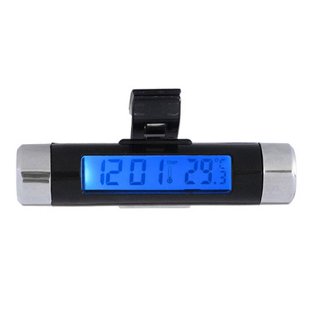 Interior Car Auto Dashboard Desk Digital Clock LCD Screen Self-Adhesive Bracket Plastic Car Clock High Quality