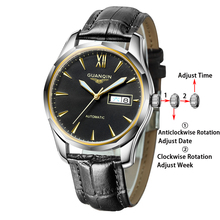 GUANQIN Sapphire Automatic Mechanical Watch men Japan NH36 Movement top brand luxury men watches waterproof  Relogio Masculino