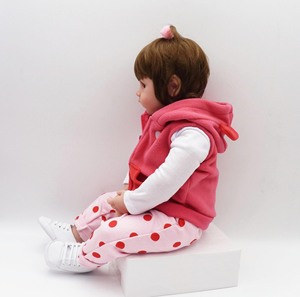 Image 3 - 19 zoll 48cm Bebe Reborn Baby Mädchen Lebensechte Puppe Baby Neugeborenen Spielzeug Für Kinder Weihnachten Geschenk Und Geburtstag Geschenk loL Puppe Spielzeug