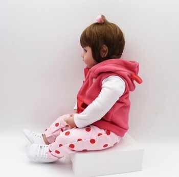 19inch 48cm bebe reborn baby girl lifelike doll baby newborn toys for children Christmas gift and birthday gift lol doll toys