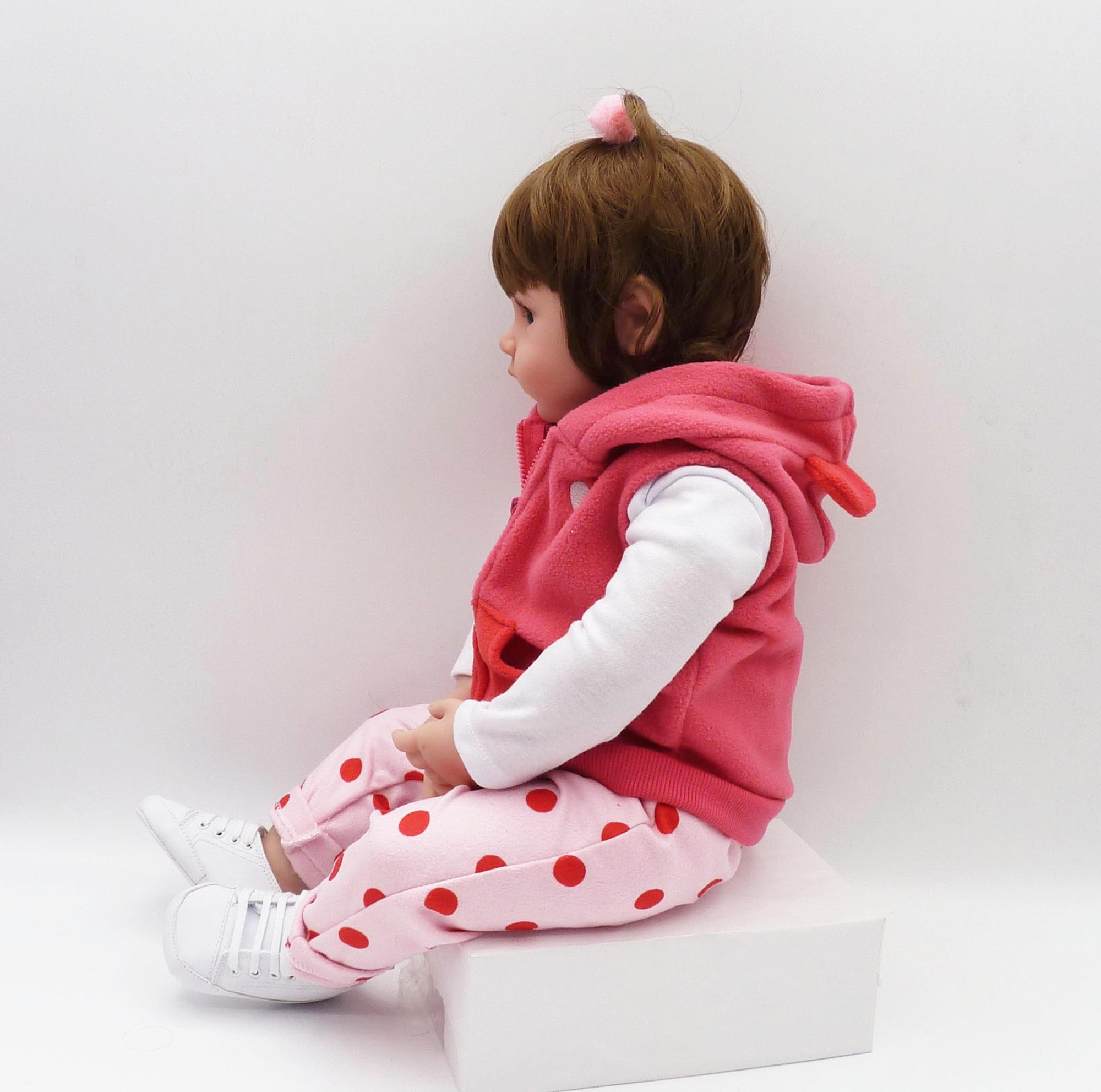 Image 3 - bebe reborn19inch 48cm lifelike doll baby newborn wholesale toys for children Christmas gift and birthday gift doll toys-in Dolls from Toys & Hobbies