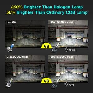 Image 4 - 2 uds. Bombillas de faro delantero de coche LED, lámpara de luz automática, H1 H3 H27 H7 H11 HB3 HB5 880 9005/HB3 9006/HB4 HB1 12V 72W 6000K 12000LM