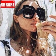RBRARE 2019 Gradient Multicolor Big Frame Sunglasses Women Men Square Colorful Lady Sun Glasses Shopping Lunette De Soleil Femme