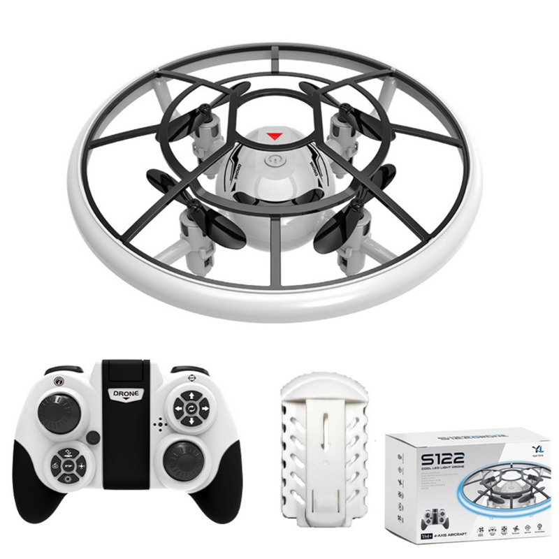 2.4GHz Mini RC Drone with LED Lights Altitude Hold Headless Mode Remote Control Quadcopter Helicopter UFO Aircraft Electric