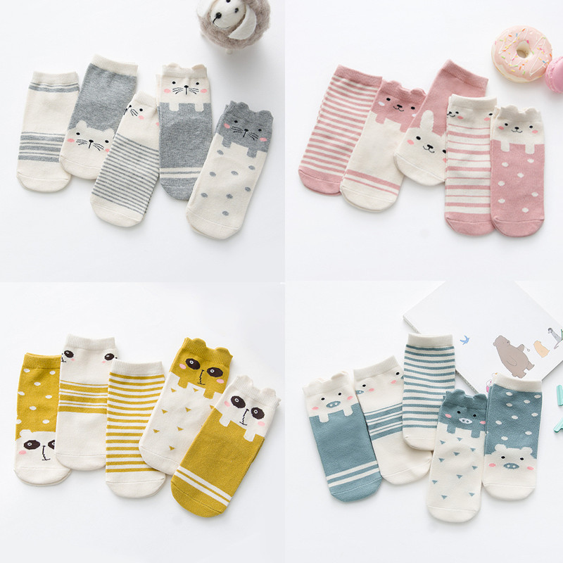 Lots Baby Boy Girl Cartoon Cotton Socks New Infant Toddler Socks 0-4 Years