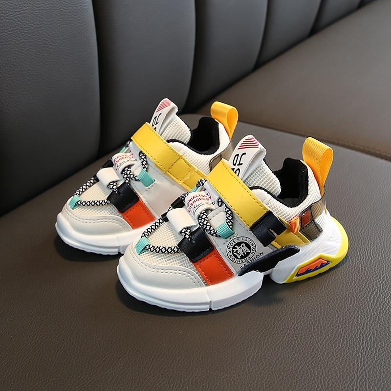 Automne nouveautés filles baskets chaussures pour bébé bambin baskets taille de chaussure 21-30 mode respirant bébé chaussures de sport