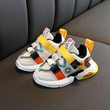 Осенние Новые поступления, кроссовки для девочек, обувь для малышей, кроссовки для малышей, размер обуви 21-30, модная дышащая детская спортивная обувь