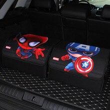 Фильм Мультфильм Человек-паук Капитан Америка автомобиль складная коробка модель игрушки для автомобиля лучший украшенный подарок