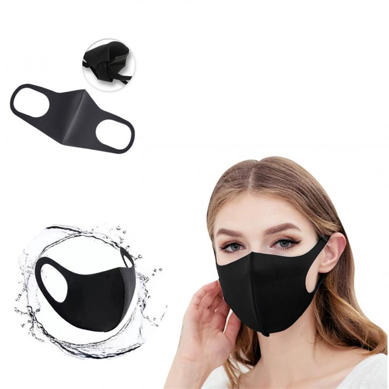 10 Pcs Washable Cotton Mouth Mask Hree-dimensional Mask Dustproof Anti-fog Haze-proof Mouth Mask Black Adult Mask In Stock