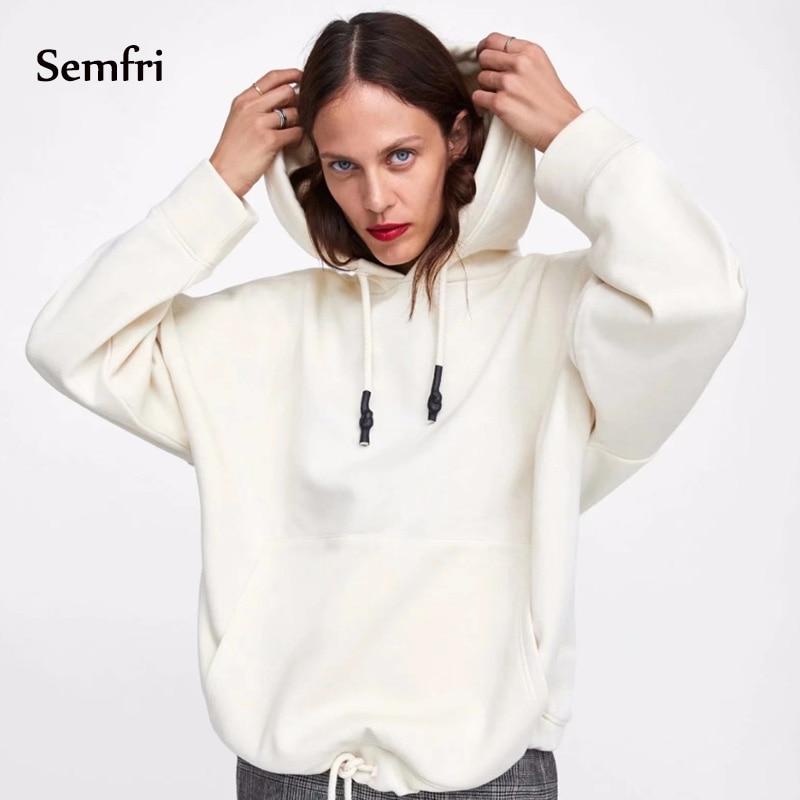 Semfri Sweatshirt Women Winter Hoodies Harajuku Long Sleeve Oversized Sweatshirt Tops Plus Size Hoodies Coat Dropshipping