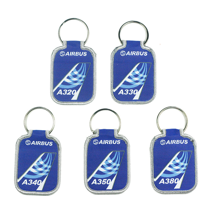 Airbus Logo Blue Air-tail Key Chain Keychain A320 A330 A340 A350 A380 Luggage Bag Tag Gift For Aviation Flight Crew Pilot