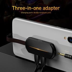 Image 2 - Baseus 3 في 1 USB نوع C OTG محول USB C إلى 18 واط سريع شحن جاك 3.5 مللي متر Aux سماعة OTG كابل محول لسامسونج نوت 10