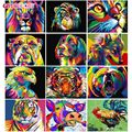 GATYZTORY 60x75cm Rahmen DIY Malerei Durch Zahlen acryl Bunte Tiere Handgemalte Ölfarbe Durch Zahlen Für home Decor Kunst