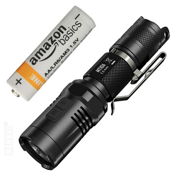 2020 NITECORE MT10A 920LM CREE XML2 U2 LED Waterproof Portable Tactical Flashlight +AA Battery for Outdoor Camping Free Shipping