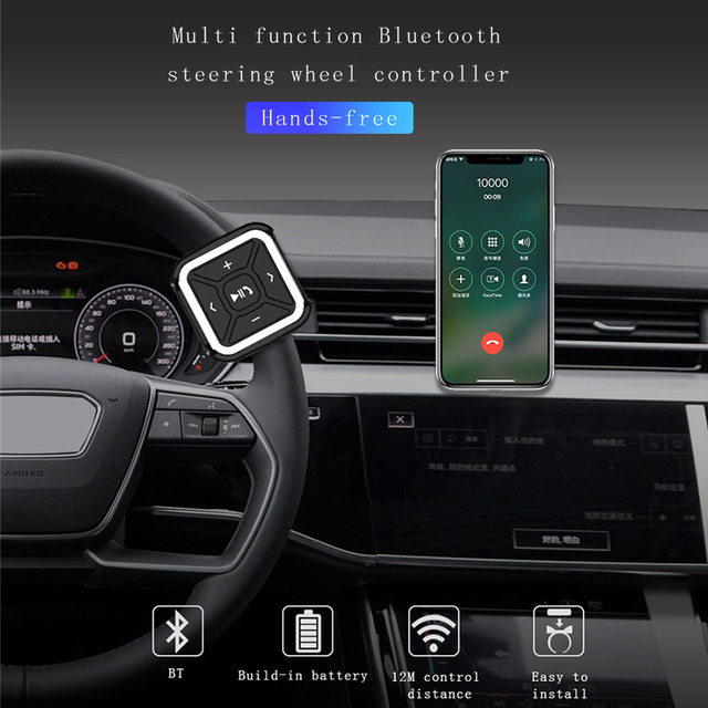 рулевое колесо для автомобиля управление bluetooth дистанционное фотография