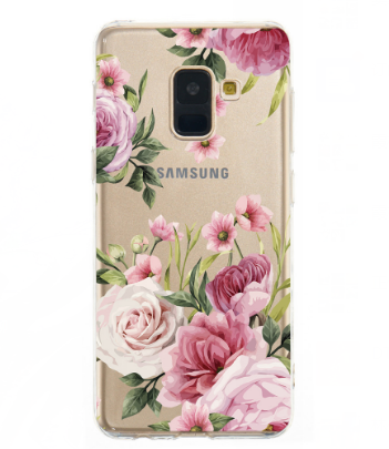 Soft Case FOR Samsung Galaxy Note 9 S9 Plus A7 2018 Cover TPU Phone Back Protetive Clear Coque FOR Samsung A8 S8 Plus Flower Cas
